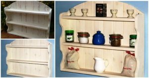 Creamy Arched Pallet Shelving Unit