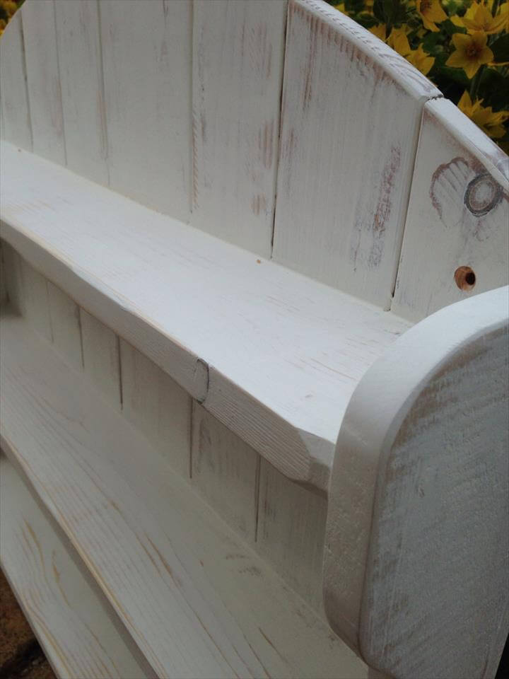 custom pallet arched shelving unit