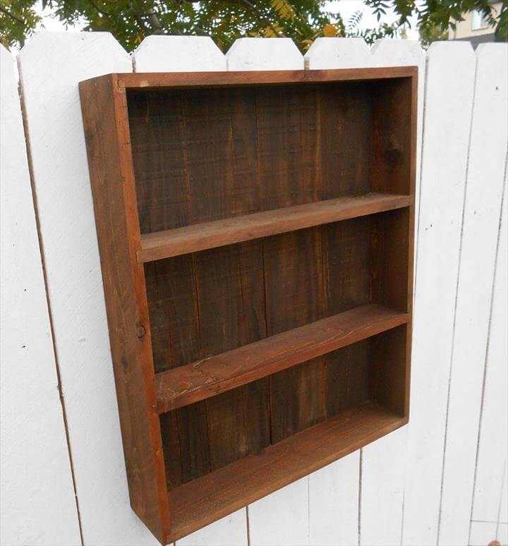 no-cost pallet open face wall cabinet