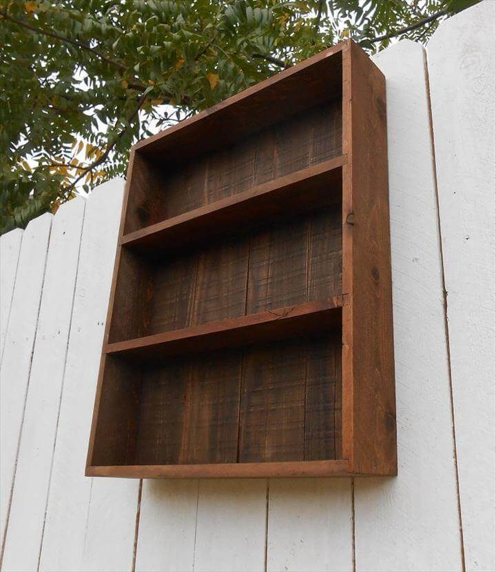 repurposed pallet wall cabinet