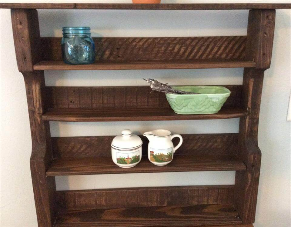 Reclaimed Pallet Bathroom Shelf Or Kitchen Spice Rack