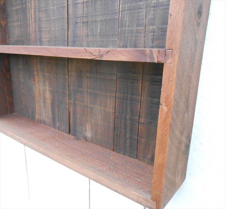 DIY pallet open faced wall cabinet