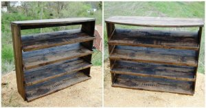 Wooden Pallet Entryway Shoe Rack