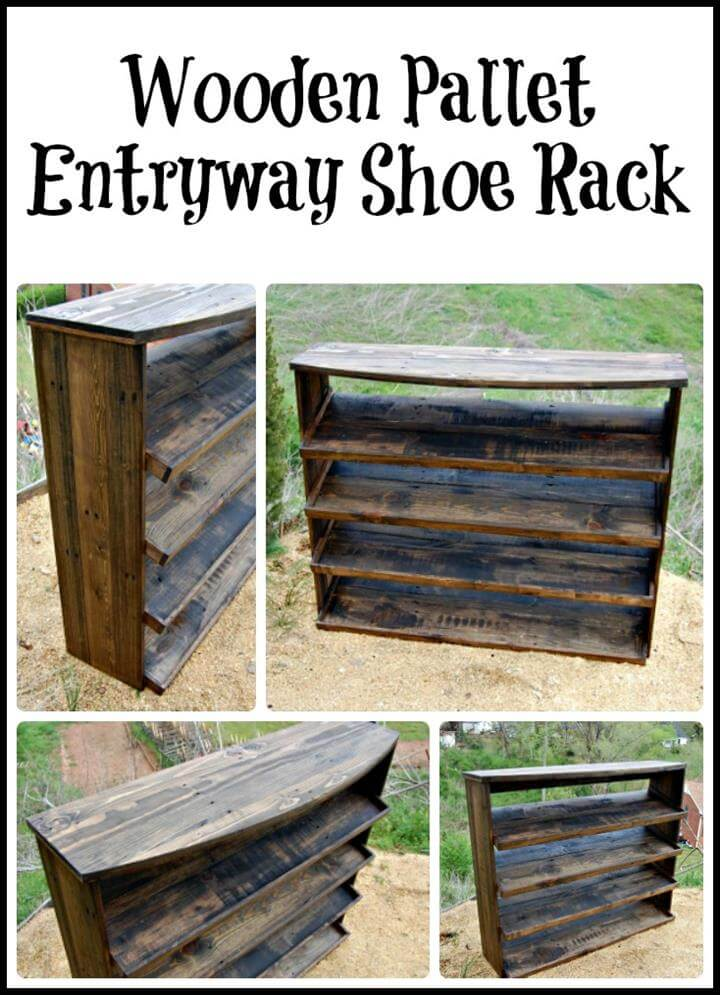 Pallet Entryway Shoe Rack