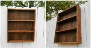 Wooden Pallet Wall Cabinet