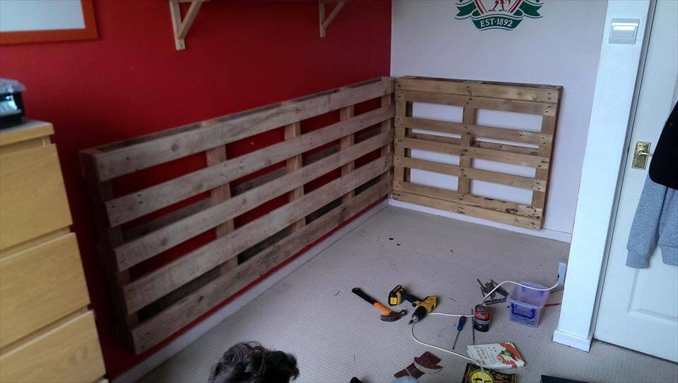 self made pallet bed