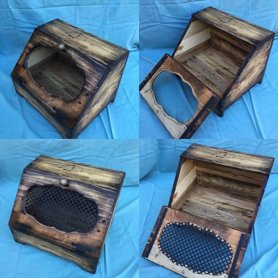 Wood Pallet Bread Box Bread Holder Pallets Pro