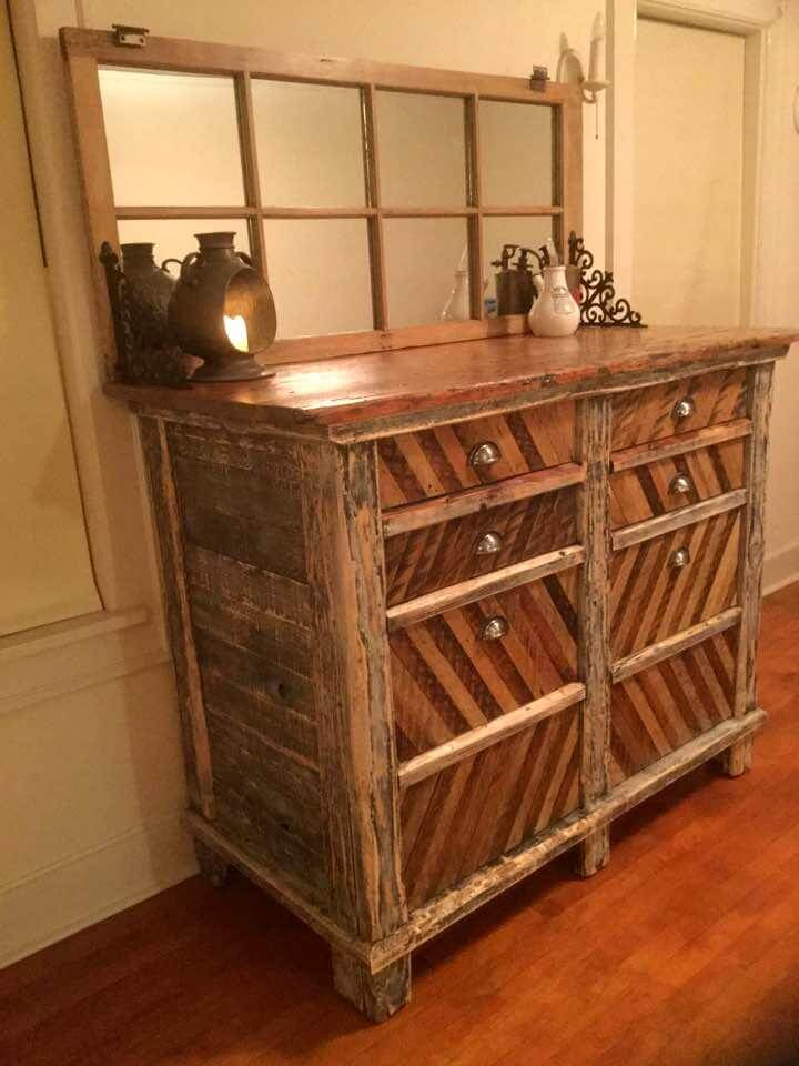 rustic pallet chest of drawers