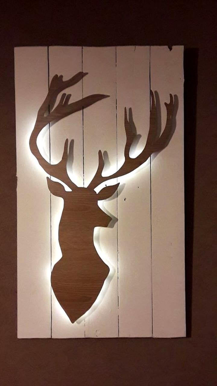 pallet deer art for walls