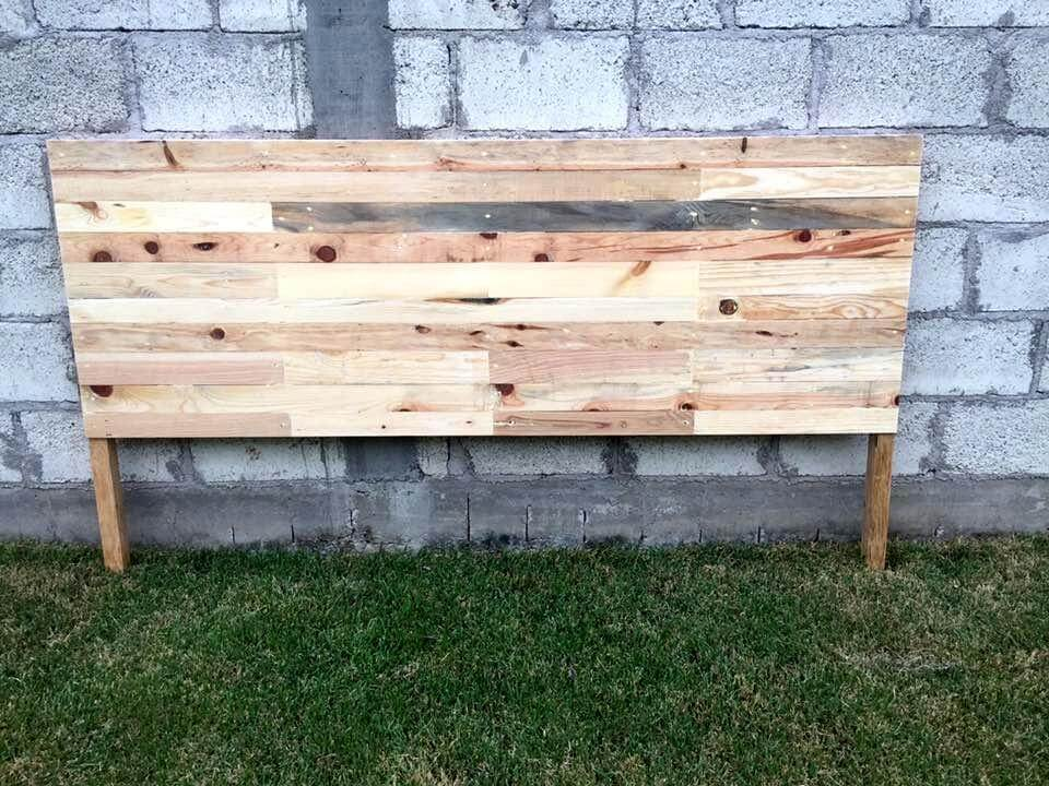 wooden pallet made headboard