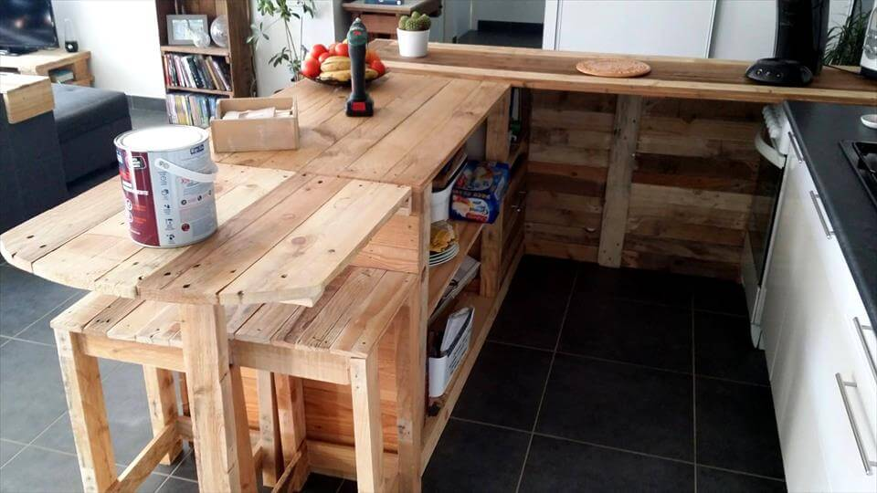 wooden pallet kitchen cabinet