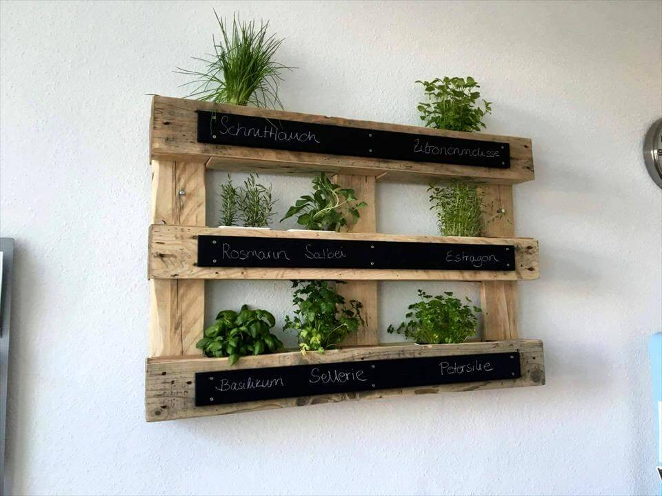 wall mounted pallet vertical planter