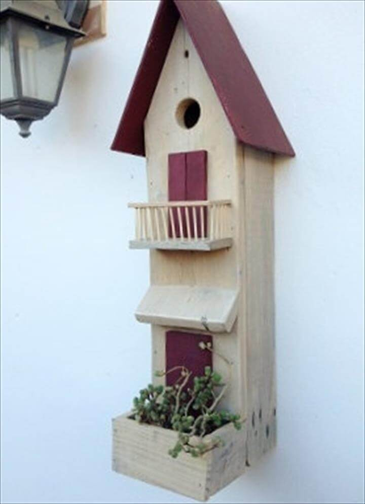 diy pallet bird house