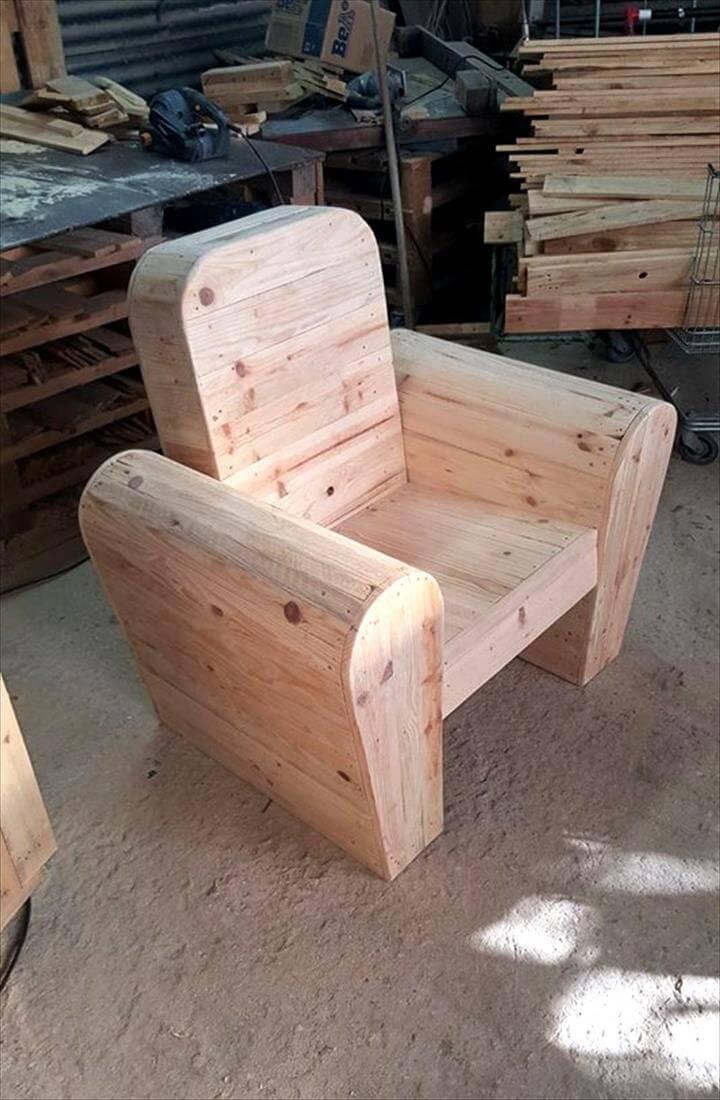 diy pallet seat chair