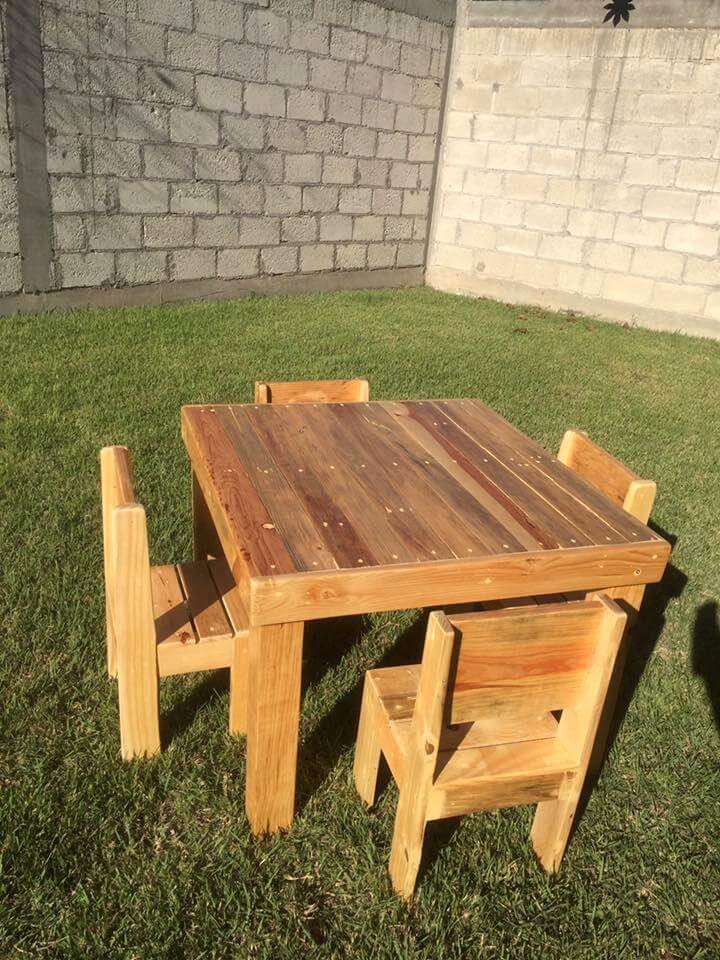 pallet dining set for kids