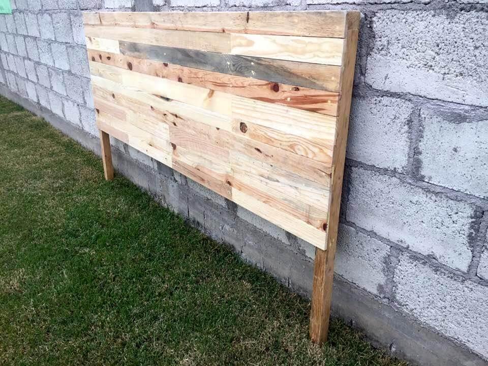 pallet made headboard