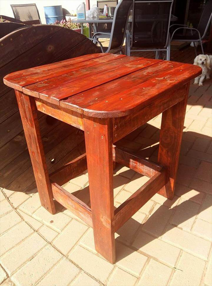 diy pallet outdoor side table