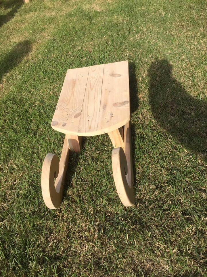 wooden pallet made sleigh