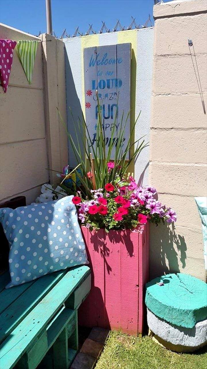 pallet cute planter box