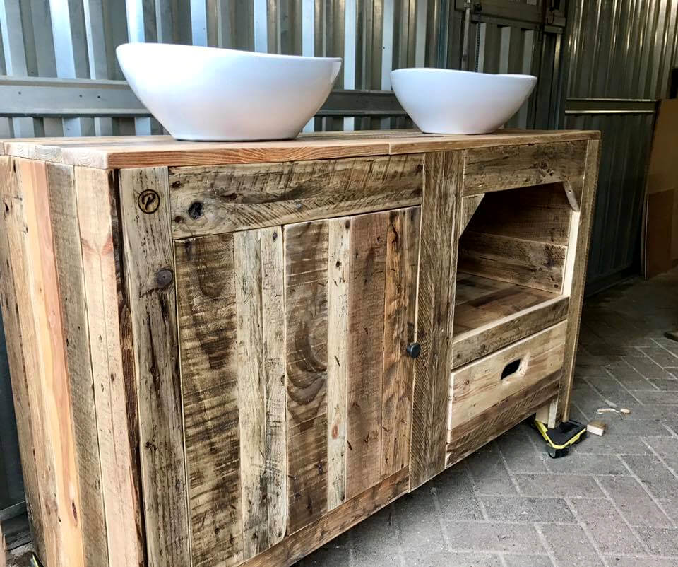 diy pallet bathroom cabinet