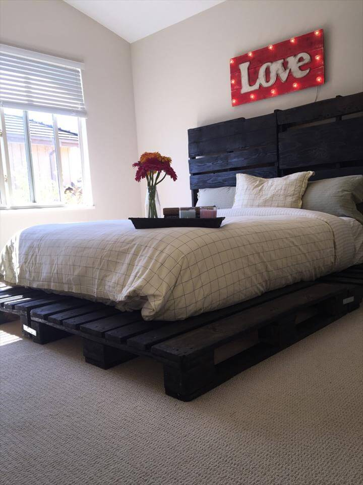 awesome pallet bed design