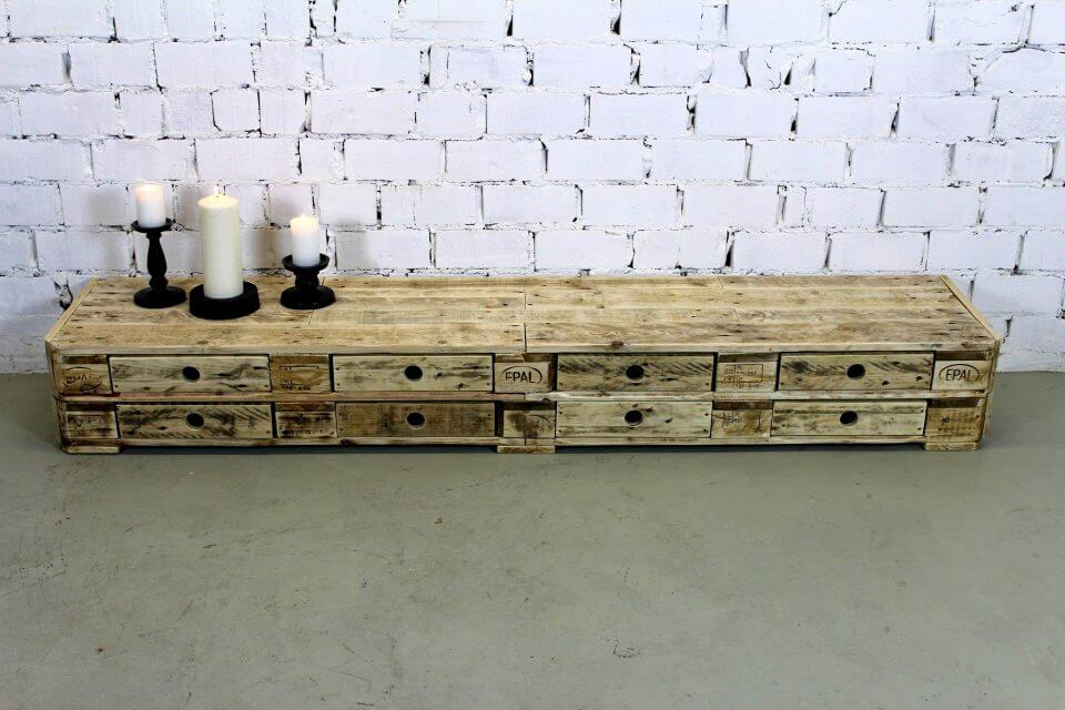 amazing pallet chest of drawers