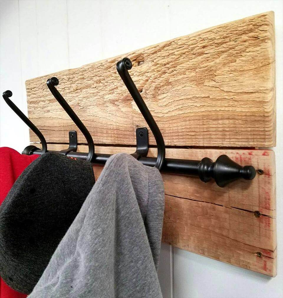 self made pallet coat rack