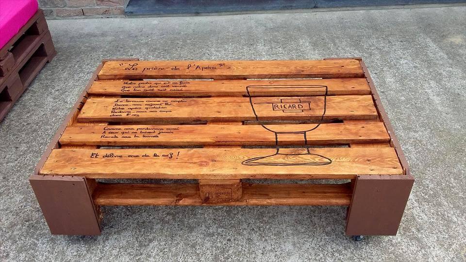 cute pallet coffee tabel