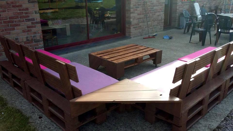 diy pallet outdoor seating
