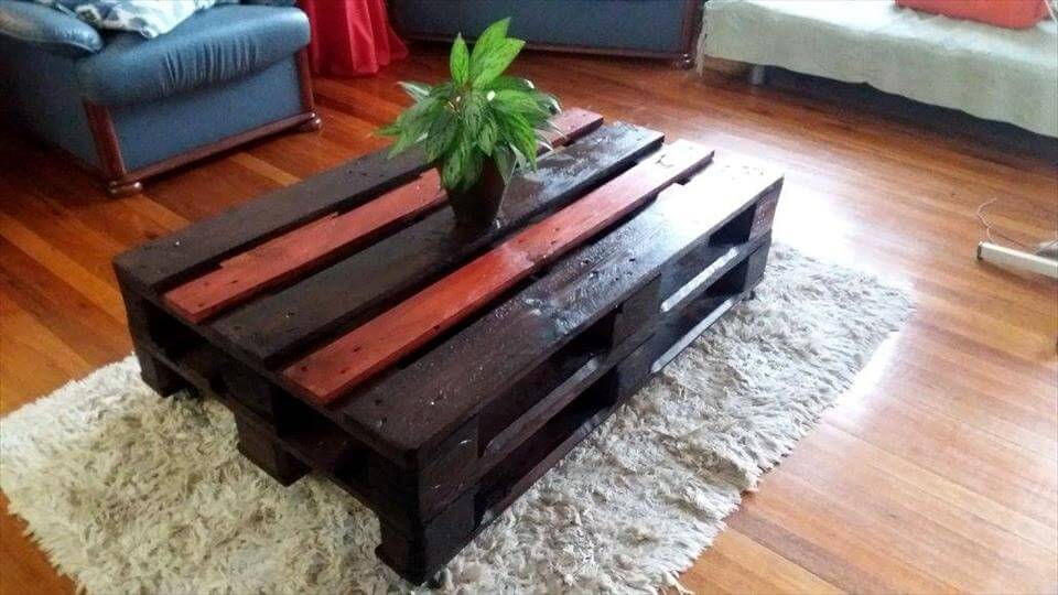 gorgeous pallet coffee table