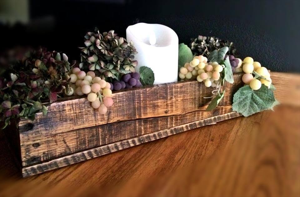 wooden pallet decorative box