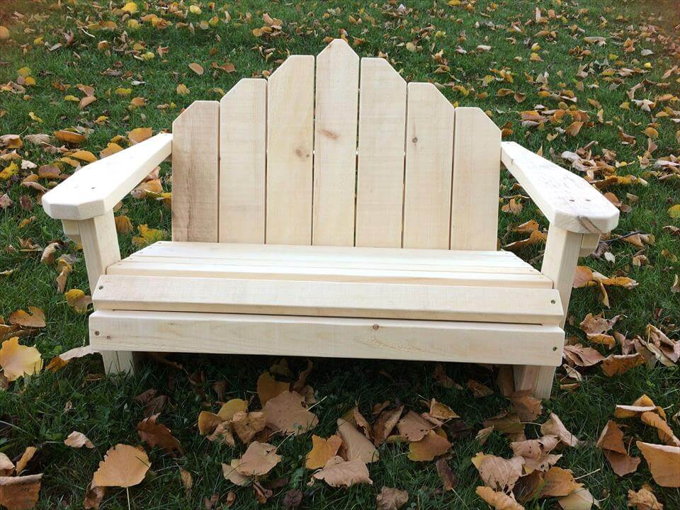 lovely pallet bench seat design