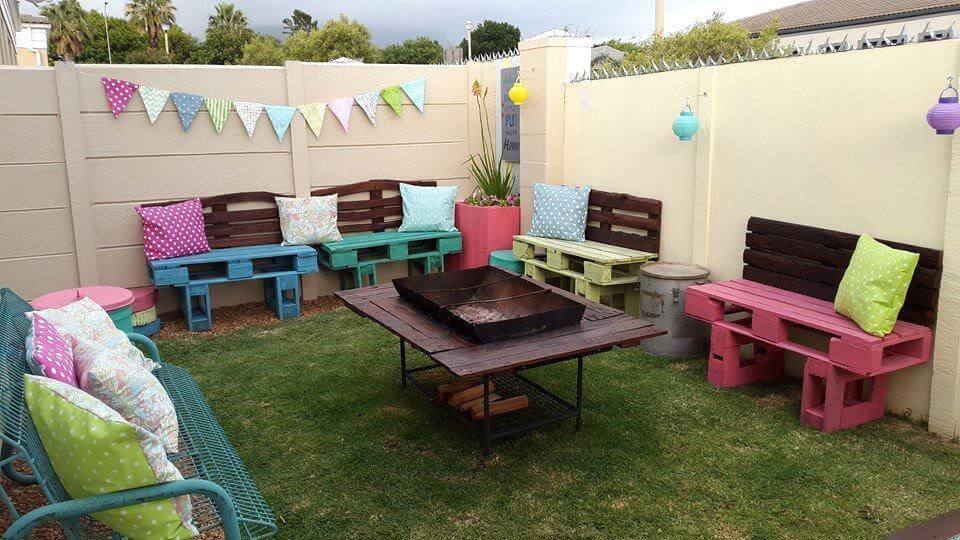 awesome pallet garden seating