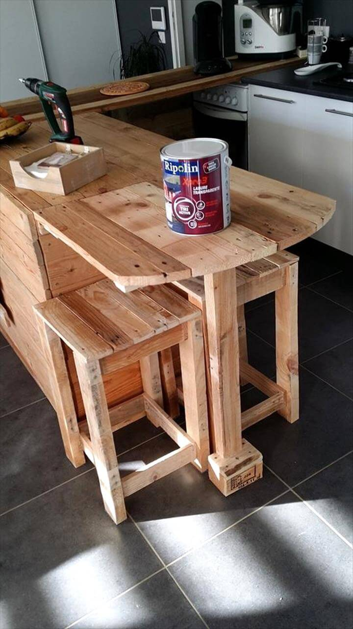 handmade pallet kitchen counter
