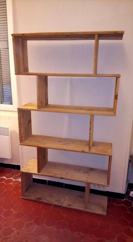 wooden pallet shelf boxes