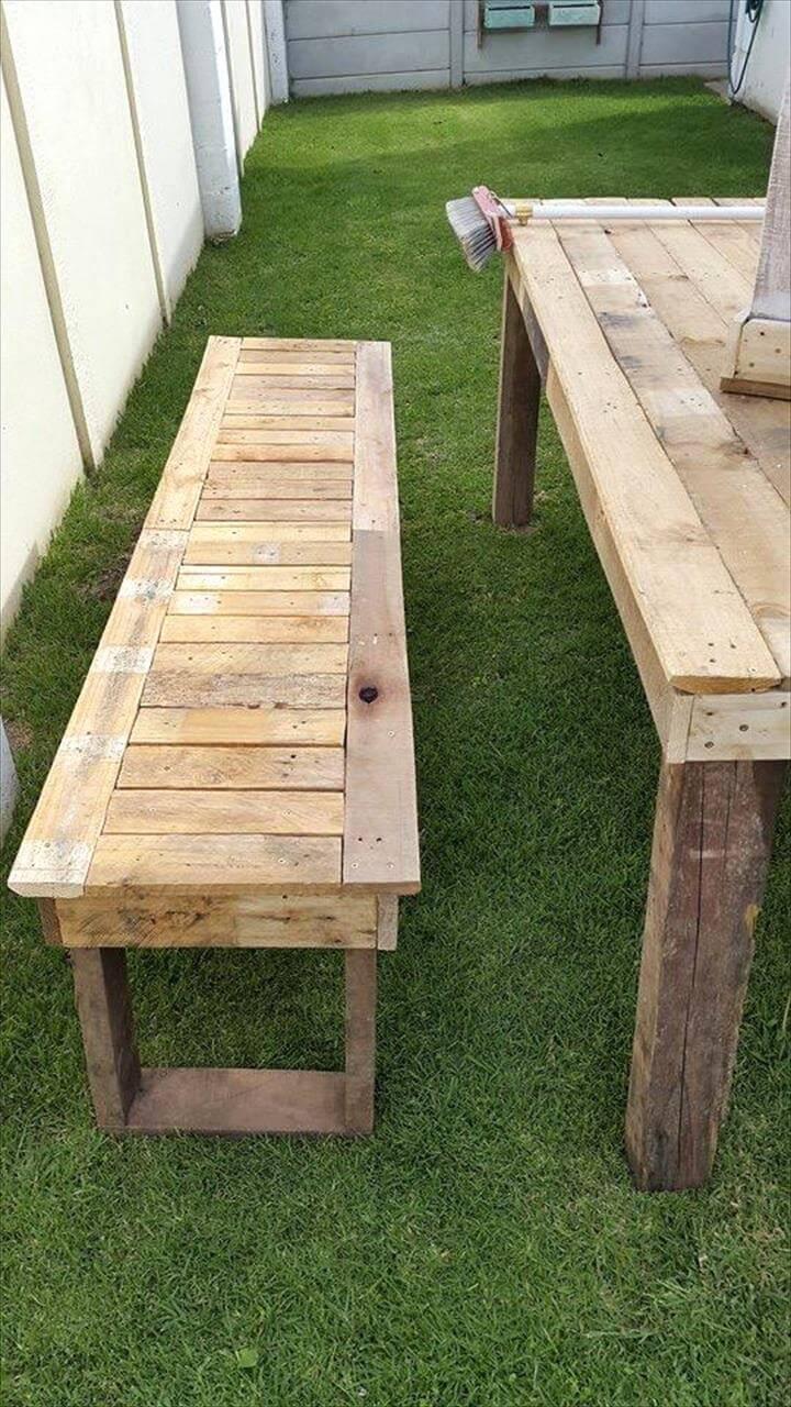 diy pallet outdoor dinning table. Rustic Pallet Outdoor Dining Set Diy Dinning Table