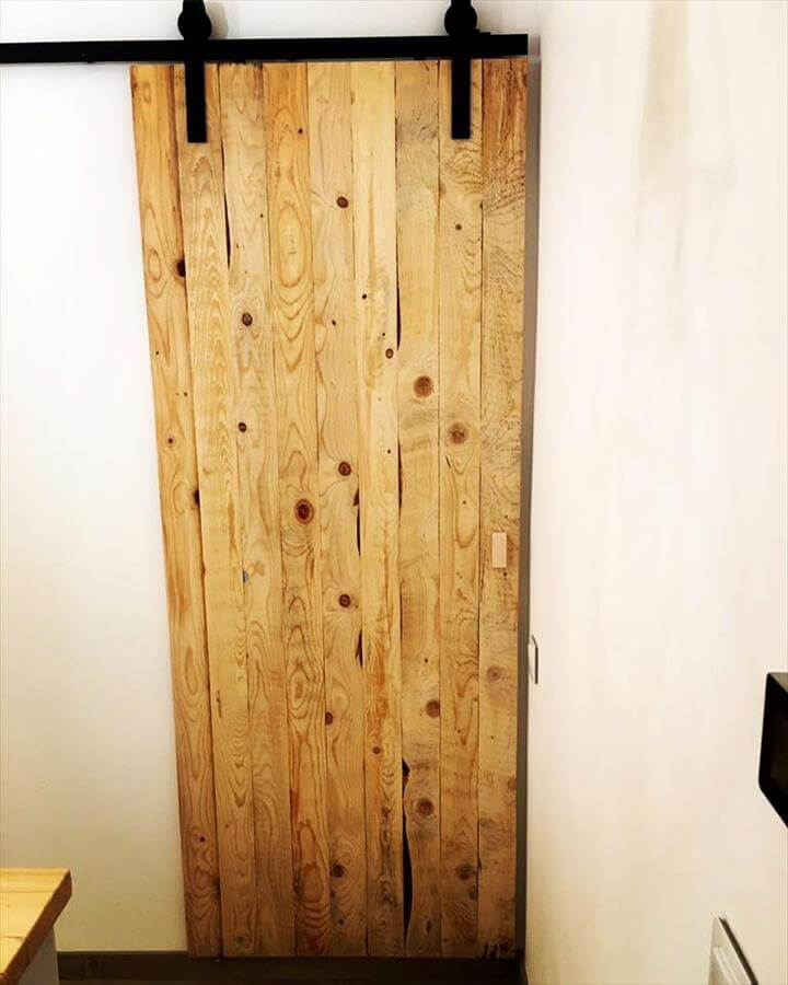 wooden pallet sliding door