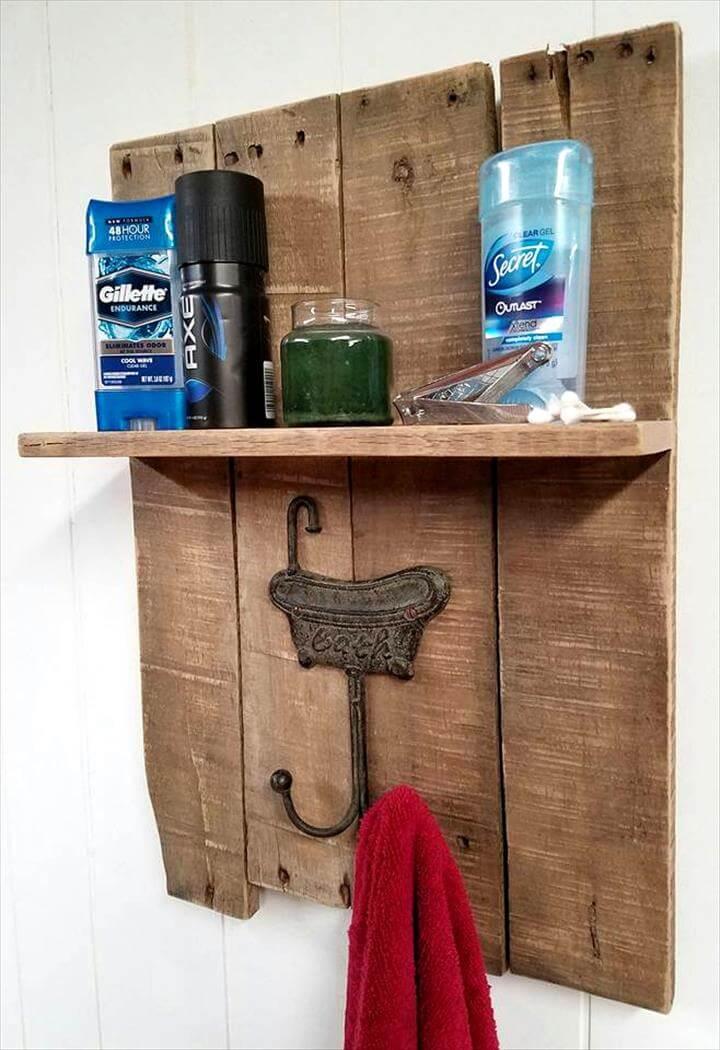 pallet made towel rack