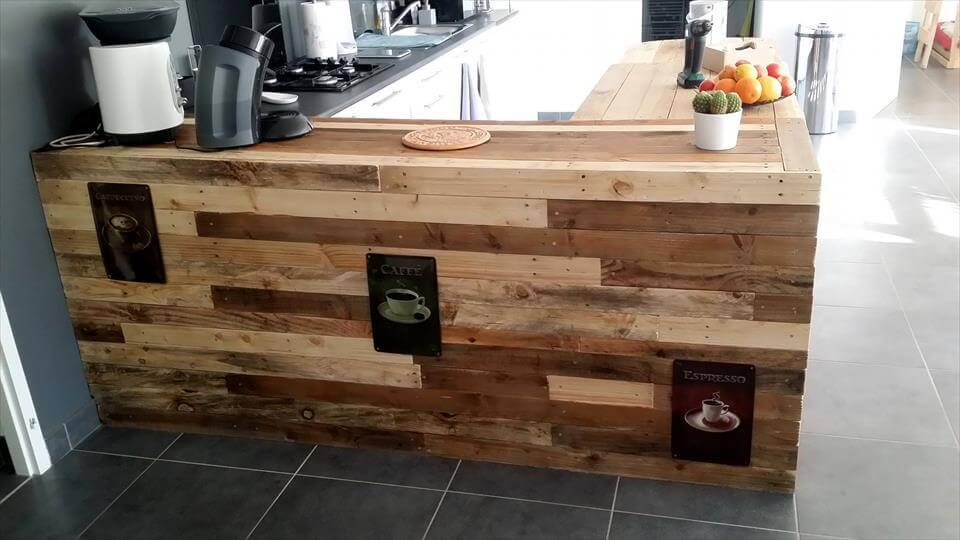 awesome pallet kitchen counter