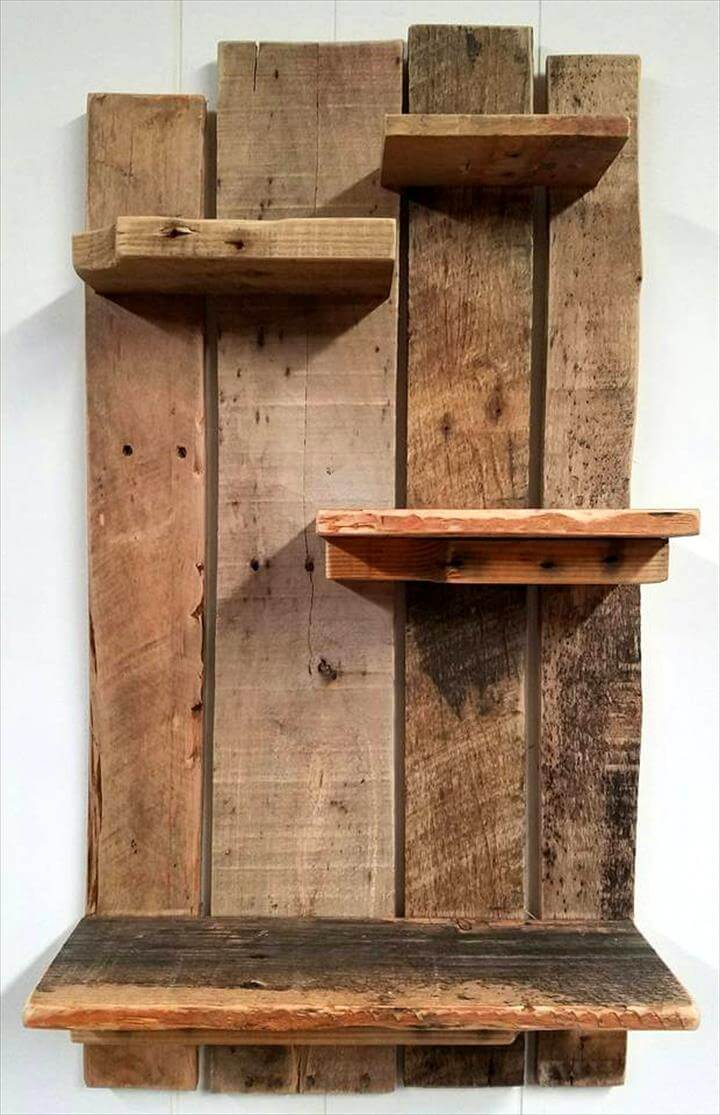 Cute Pallet Shelf Design