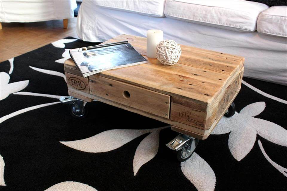 mini coffee table design from palelts