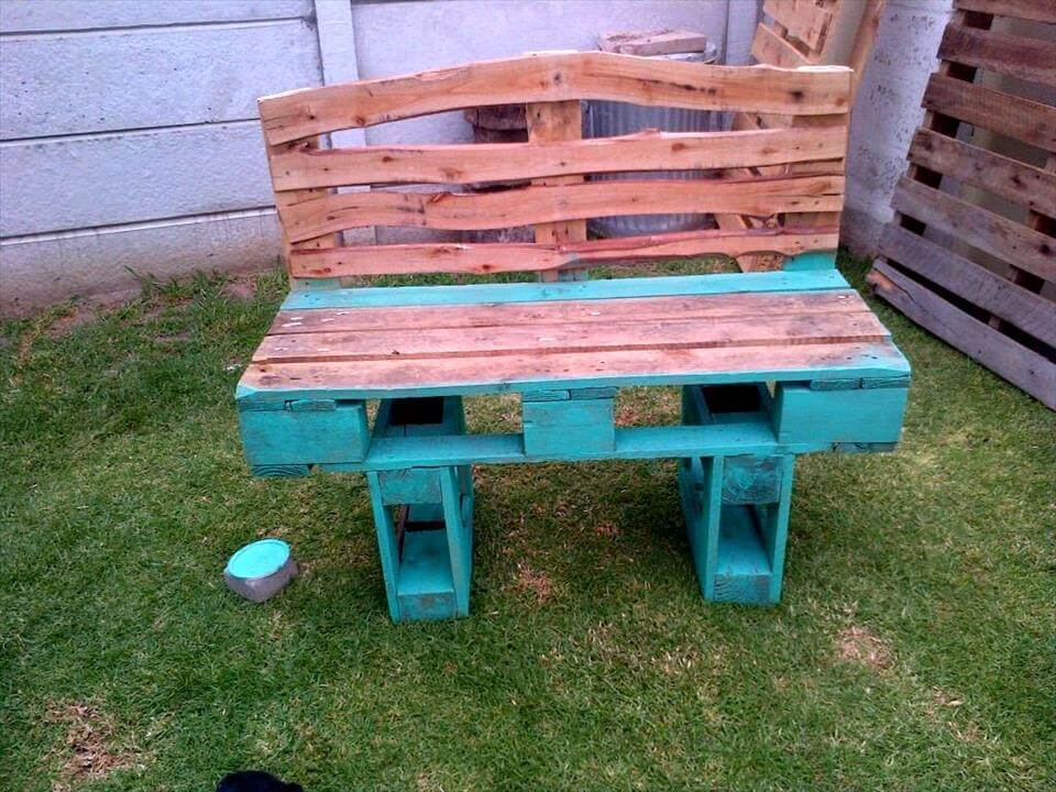 awesome pallet bench seat