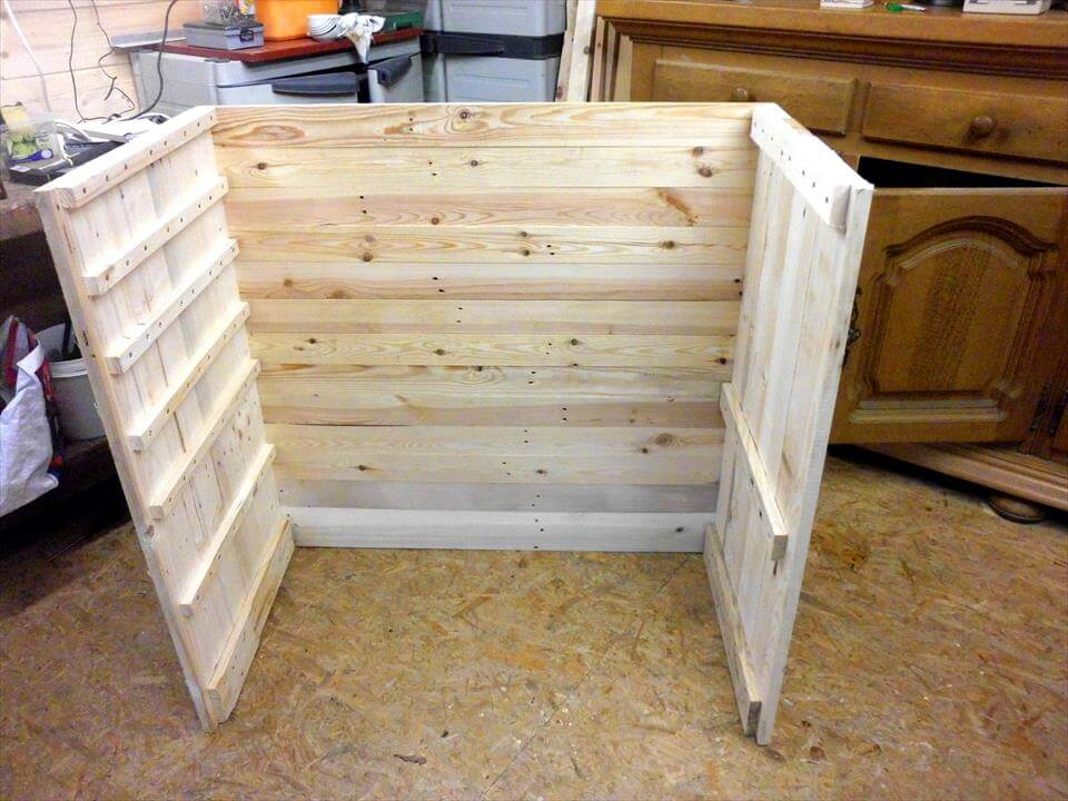 chest of drawers from pallets