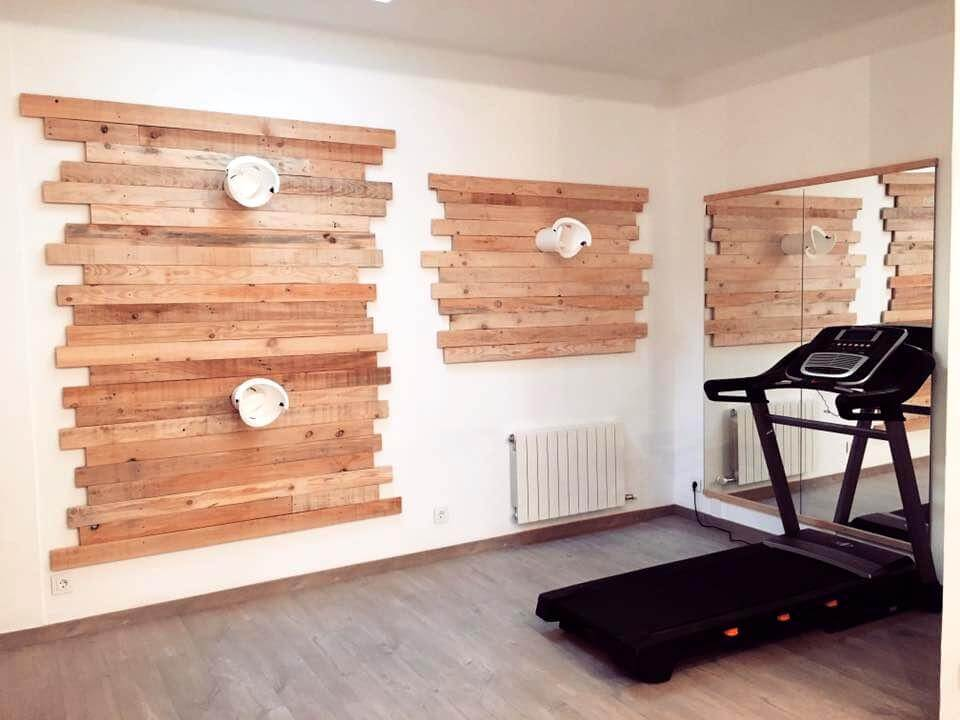 diy lovely pallet wall paneling