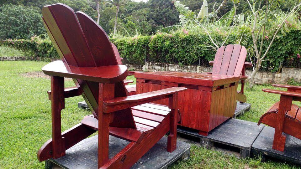 pallet Adirondack seating