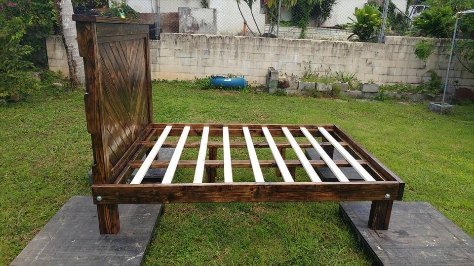 lovely pallet bed frame