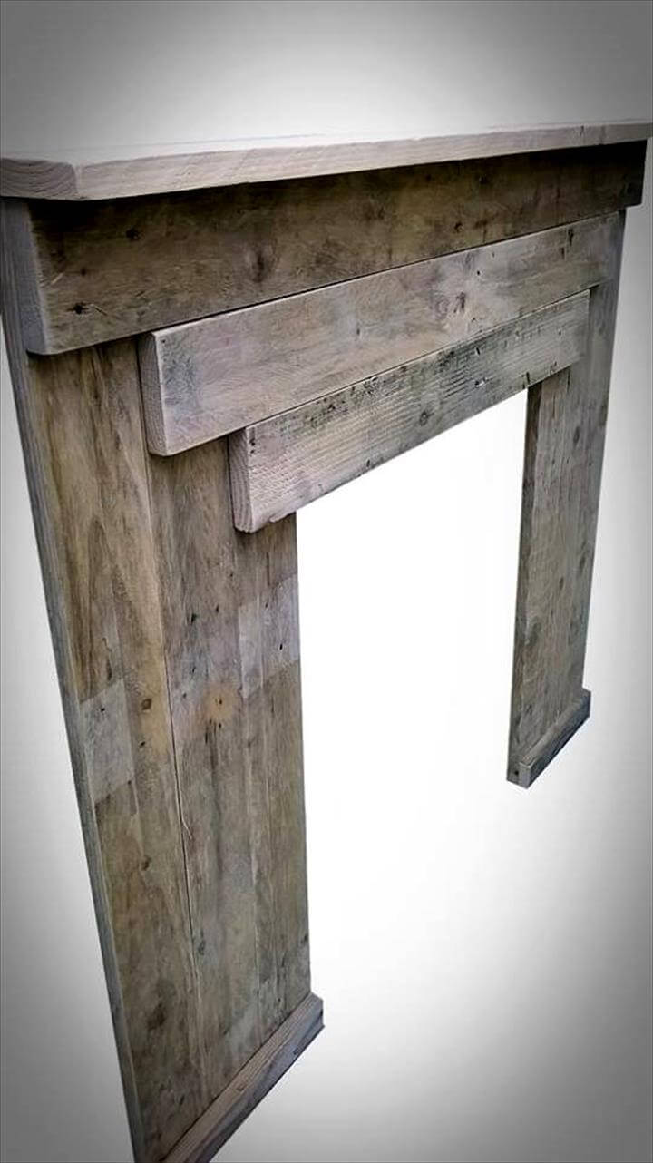 Reclaimed Pallet Fireplace Mantle Pallets Pro