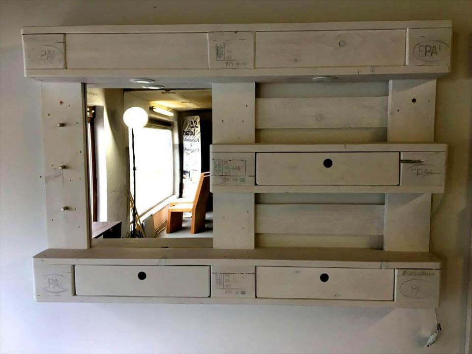 diy mirrored furniture mirror nightstand pallet mirror pallet chest of drawers and coat rack diy mirror pallets pro