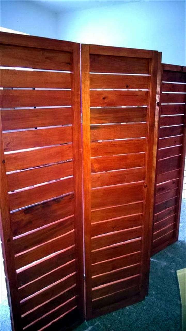 rustic pallet room divider