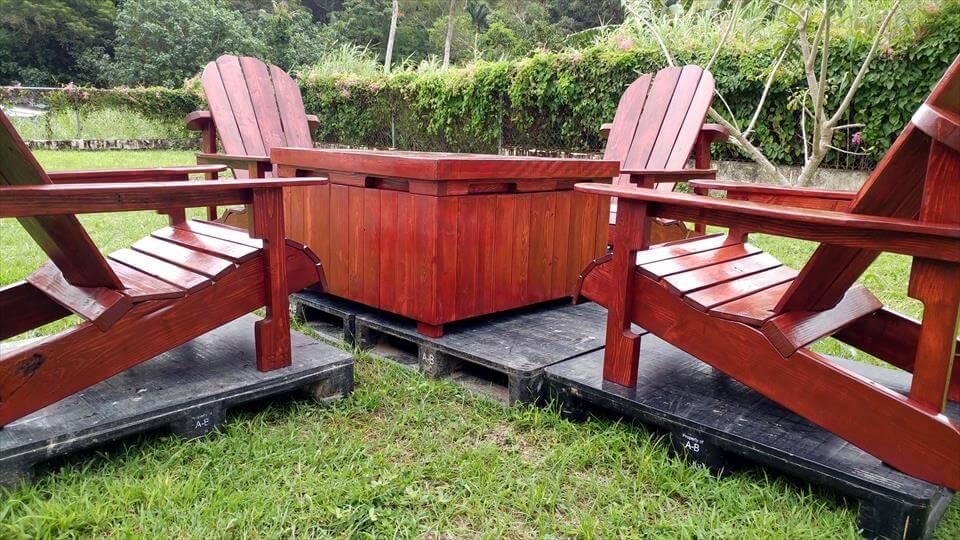 super stylish pallet Adirondack seating